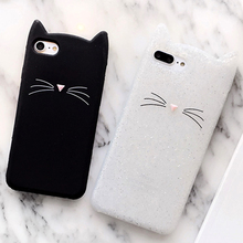 3D Silicone Soft Cover Case For iphone 8 6 s 6 plus 7 7 plus Phone Case cute Cat Case For iphone 6 6s Mobile Phone Bunny Case(China)
