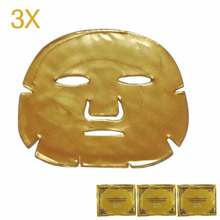 3pcs/Lot Skin Care Facial Mask Moisturizing Firming Oil-control Mask Gold Bio-Collagen Gold Crystal Collagen Powder Face Mask(China)