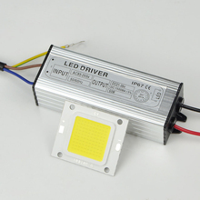 1Set Real Watt COB LED lamp Chips 20W 30W 50W with IP67 waterproof LED Driver For DIY Floodlight Lawn Bulb Light