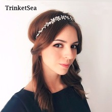 TrinketSea 2017 New Vintage Luxury Crystal Delicate Elastic Headband HairBand for Women Wedding Hair Accessories Fashion Jewelry