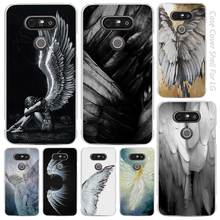 angel wings Clear Cell Phone Case Cover Shell for LG K3 K4 K8 K10 G3 G4 G5 G6 2017 V10 V20 K5 stylus3