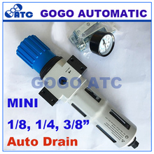 High quality Pneumatic air filter pressure regulator parts 1/8 1/4 3/8 inch MINI Festo type with pressure gauge auto drain