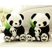 20cm Cute Cartoon Panda With Bamboo Baby Plush Toys Infant Soft Stuffed Animal Key Chain Plush Doll Toys Kids Gift Toy(China)