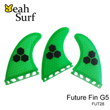 SUP Surfboard Quilhas Green Honeycomb Future Fin M Size Future Fibreglass Fins in Surfing