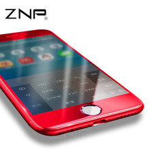 ZNP For Apple iPhone 7 7plus Red Tempered Glass 0.3mm 3D Full Cover Screen Protection Film 9H For red iphone 6 6s tempered glass