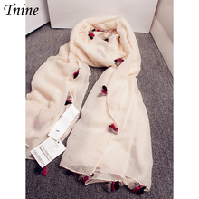 2016 Fringes Plain Hijabs Cotton Linen Women Solid Scarves Shawls Stoles Oversize Scarf Islamic Lady Tassels Design Soft Scarves