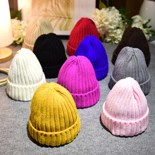 New Brand Children cap High-Quality Knitted Hat Kids winter mink The Ball ski rabbit fur hat pom poms Boy Girl Cap knitted hats