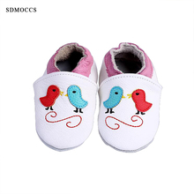 SDMOCCS New 2017 Newborn First Walkers Soft Leather Baby Shoes Boys Girls Infant Shoes Slippers 0-24M Skid-Proof Kids Footware