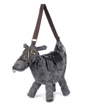 Hot Animal bag Creative 3D Pony Donkey Horse Shape Female Shoulder Bag women messenger Bags travel bag Pack mochila bolsos mujer(China)