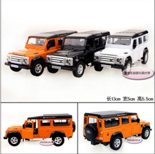 Candice guo alloy car model 1:36 mini SUV defender land sport jeep style plastic motor toy birthday gift christmas present 1pc