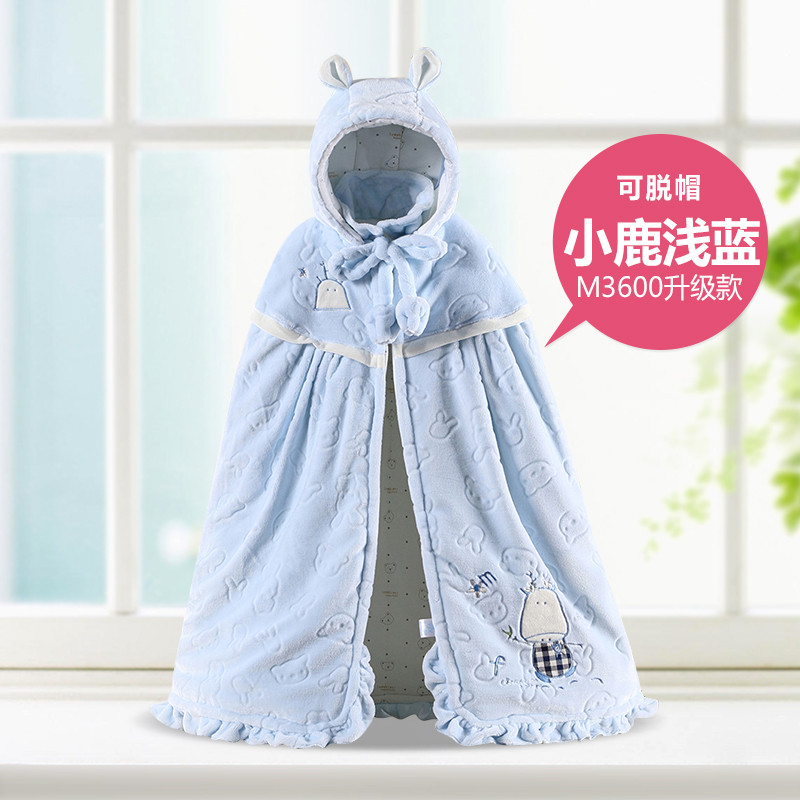 Thickening baby cloak autumn and winter newborn 100% cotton male female child baby child cape outerwear<br>