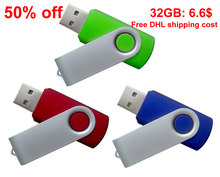 Cheapest 16GB 8GB 4GB 2GB USB flash drive swivel flash pen drive with free shipping cost(Hong Kong)