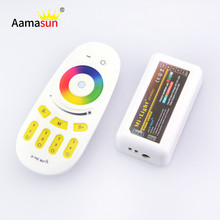 DC12-24V 2.4G wireless RGB touch screen led remote controller with 4-zon controller for milight/led strip led bulb lamp()
