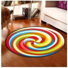 Lollipop Whirlwind Round Mat 60/80/100/120/160CM alfombras dormitorio Carpet Deurmat Dier rugs Swivel chair Mats tapis chambre(China)