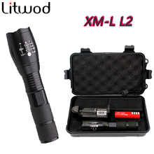 Litwod LED flashlight Tactical Flashlight 5000 Lumens XM-L2 Zoomable 5 Modes Aluminum Lanterna LED Torch Flashlights For Camping