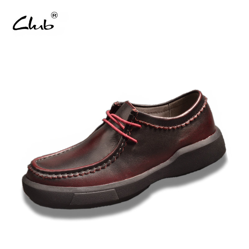 Club Oxford Shoes Women Genuine Leather Lace-up Flat Shoes Women Plataform Casual Shoes Zapatillas Mujer Eur Size 35-40<br>