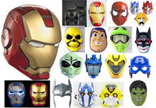Avengers 2 Green Giant Spider Man Mask Iron Man and Captain America Thor Large Yellow Peak Optimus Prime Mask B-2924