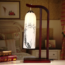 China Antique Living Room Vintage Table Lamp Porcelain Ceramic Table Lamp wedding decoration bedroom table lamp(China)