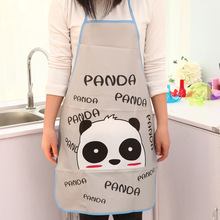 Cartoon Waterproof Apron Kitchen Restaurant Cooking Bib Aprons Monther Gift Mommy Love Women Men Hello Kitty Panda Random Color