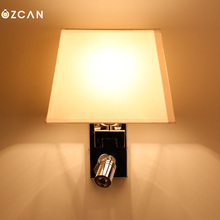 Led bedroom wall lamp bed-lighting double slider walls reading lamp main lighting(China)