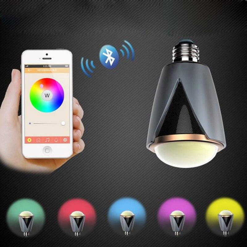 10pcs/lot Wireless E27 E26 Led Rgb Bluetooth Speaker Bulb Light Lamp Music Playing &amp; RGBW LED Bulb Light BT Speaker Music Lamp <br><br>Aliexpress