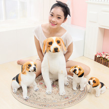 2016 30-50cm New Beagle Simulation Dog Plush Toys Doll  Lying Squatting Sitting Posture Genuine Good Quality Lifelike Real Dog
