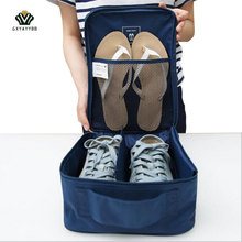 New Shoes Storage Bag Organizer Nylon & Mesh Travel Portable Tote Shoes Pouch Waterproof Storage Bag Travel Wash Pouch Handbag