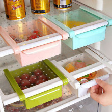 Fridge Freezer Slided Kitchen Organization Storage Box Shelf Holder Tool(China)