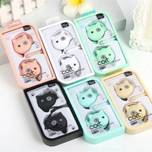 Newest Cartoon Cat 3.5mm Stereo Ear Hook Sport Earphone With Microphone Kawaii Earbud For Phone MP3 With Mic