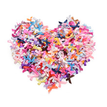 500pcs/lot Wholesale Handmade DIY Pre Tied Satin Ribbon Gift Package Bow Wedding Scrapbooking Embellishment Crafts Accessory(China)