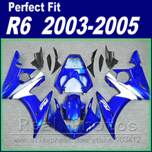 Hot sale body work for YAMAHA R6 fairing kit 2003 2004 2005 royalblue matte black Fairing YZF fairings 03 04 05(China)