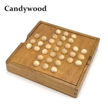 Candywood Intelligent China Kongming Lock chess Brain Teaser Toy Chess Classical Magic Wood Puzzle board game for kids adult(China)