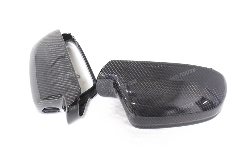 For Audi A4 B8.5 A5 S5 RS5 Carbon Fiber Mirror Cover Rear View without Lane Assit & with lane assit 2010 - 2015 (9)