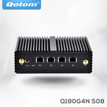 4 LAN Qotom Fanless Mini PC Linux Ubuntu Celeron J1900 quad core micro pc server industrial Mini Desktop Computer(China)