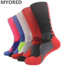 MYORED 1 Pair Leisure socks Professional mens elite socks Fashion Thicken Towel sox For Men 211W(China)
