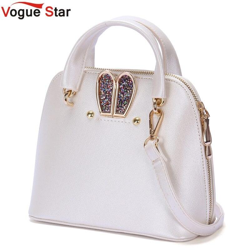 Vogue Star Women Famous brand designer Luxury Shell PU leather handbags messenger bag Ladies Rabbit Ears Shoulder bag LA320<br><br>Aliexpress