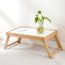 Bamboo Folding Small Table Dormitory Learning Desk Simple Bed with Lazy Laptop Table
