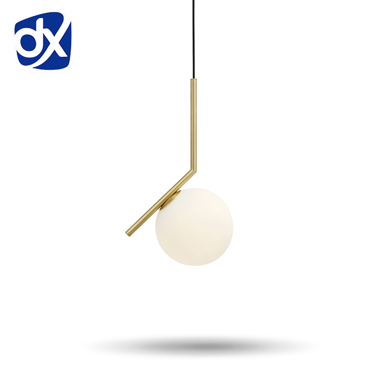 Hot Sale Simple postmodern style pendant lamp glass ball lamp lampen pendant light deco lampe modern lights nordic lighting(China (Mainland))
