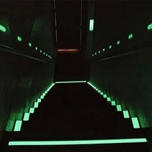 Keythemelife 3M Length Wall Stickers Glow In Dark Fluorescent Stairs Sticker DIY Warning Luminous Strip Anti-collision Sticker A(China)