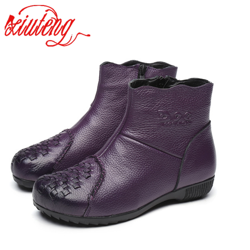 Xiuteng 2017 NEW! Warm Solid Anti-Slip Winter Boots Women Waterproof Female Winter Boots Thermal Shoes Botas Mujer Plataforma<br>