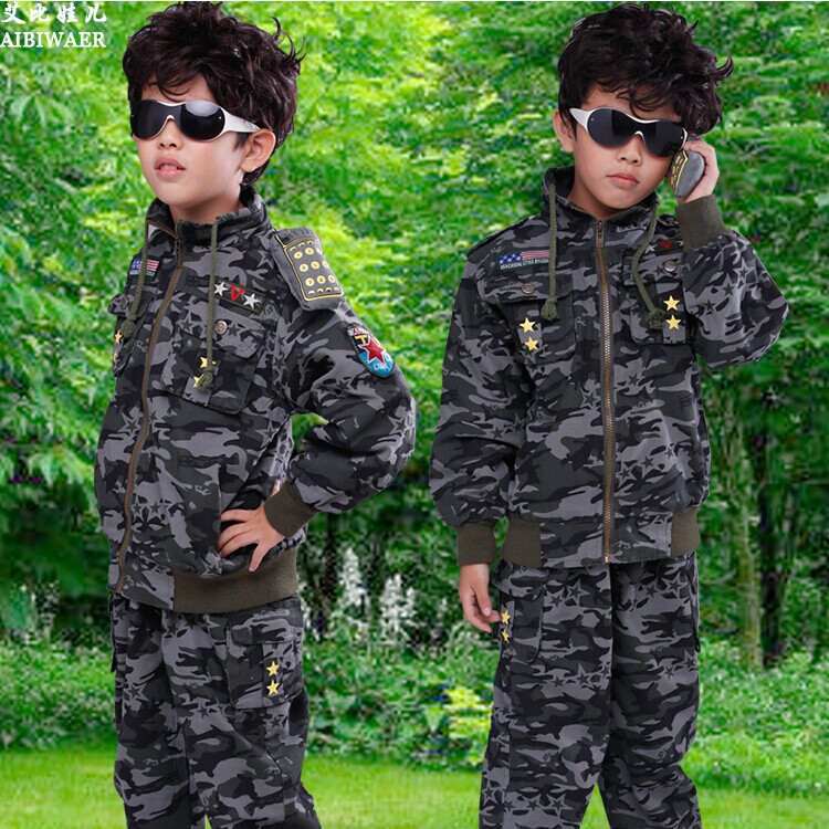 Camouflage Child Set 2015 Spring Boys Long-sleeve Clothing Outerwear Boys Military Sportswear Boy Clothing Sets<br><br>Aliexpress