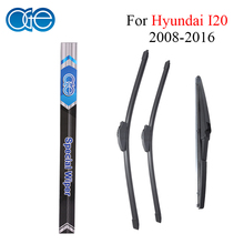 Oge Front And Rear Wiper Blades For Hyundai I20 2008-2016 Windscreen Windshield Rubber Car Accessories(China)