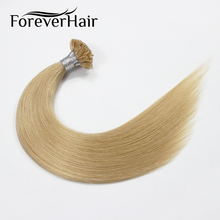 "FOREVER HAIR 0.8g/s 16"" Remy U Tip Human Hair Extension Golden Blonde #16 Pre Bonded Hair On Keratin Capsules Hot Fusion Hair(China)"