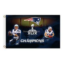 Tom Brady Julian Edelman Patriots Flag Super Bowl World Series Champions Football Banner 3ft X 5ft New England Patriots Flag(China)