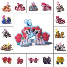 1pair Cartoon My Little Ponies Girls Hairbands Cute Headwear Hair Accessories PVC+Elastic Bands Kid Party Gift Hair Jewelry