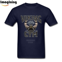 Custom Homme T-Shirts Fashion Vikings Powerlifters Short Sleeve O-Neck Cotton For Man Big Size Camisetas Tee Shirt