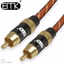 EMK Digital Audio Coaxial Cable OD8.0 Premium Stereo Audio Rca to Rca Male Coaxial Cable Speaker Hifi Subwoofer Cable AV TV(China)