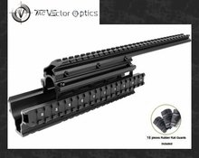 "Saiga12 Tactical Picatinny Quad Rail Mount System 15"" Full Metal Free Rubber Covers Guards Saiga 12(China)"
