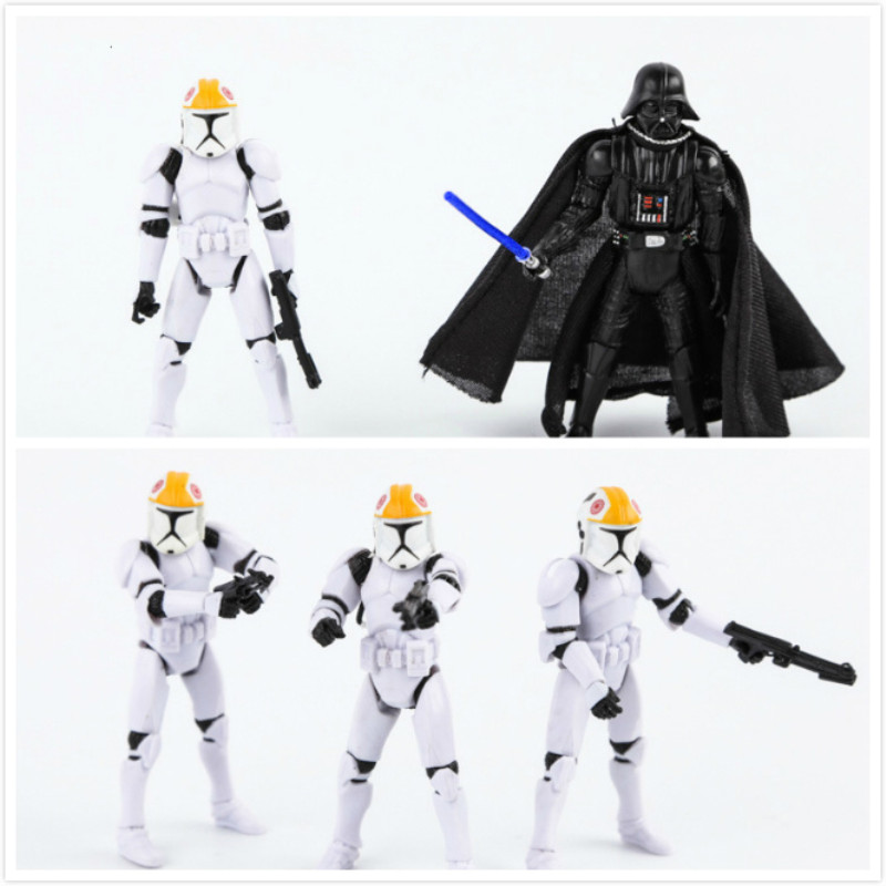 NEW Toys STAR WARS SPACE Darth Vader and Storm Trooper Model Decoration gift