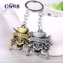 Music Band GnR Guns N' Roses Keychain can Drop-shipping Metal Key Rings For Gift Chaveiro Key chain Jewelry for cars YS10854(China)